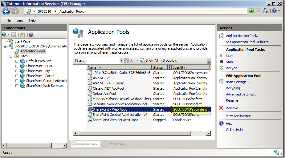 ApplicationPools