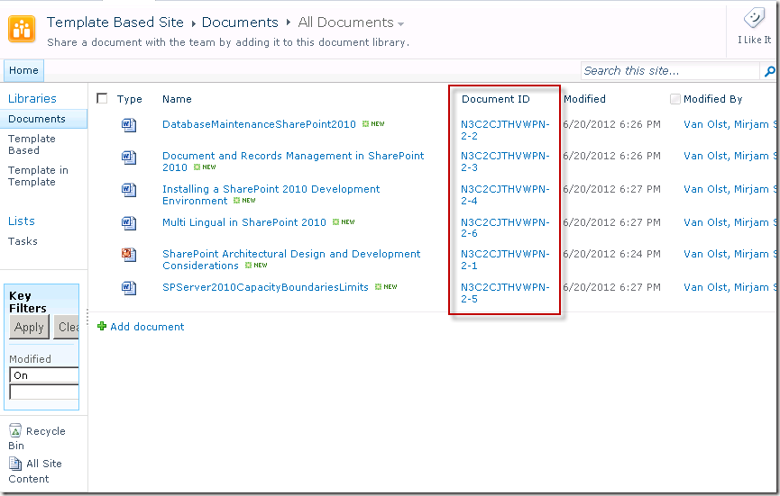 sharepoint 2013 document library template - save site as template and document ids