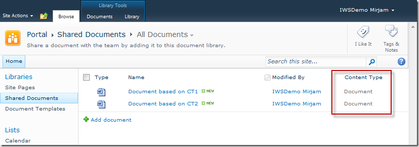 Documents Wrong Content Type