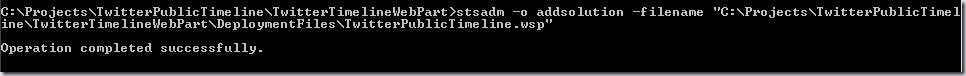 addsolution stsadm command